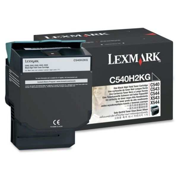 Lexmark C540H2KG High Capacity Black Toner Cartridge