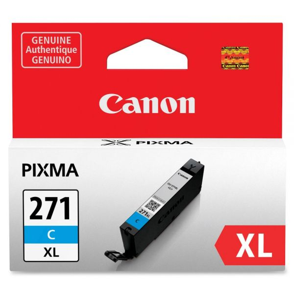 Canon CLI-271 High Yield Cyan Ink Cartridge (CLI271XLC)