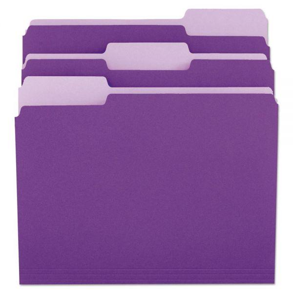 Universal Purple Colored File Folders