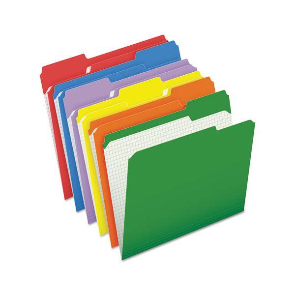 Pendaflex Reinforced Top Tab File Folders, 1/3 Cut, Letter, Assorted, 100/Box