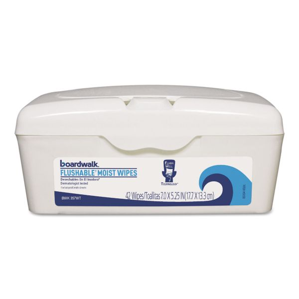 Boardwalk Flushable Moist Wipes