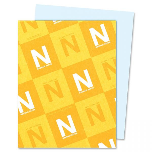 Neenah Paper Exact Index 110 lb Blue Colored Card Stock
