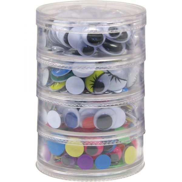 ChenilleKraft Wiggle Eyes Stackable Storage Jar