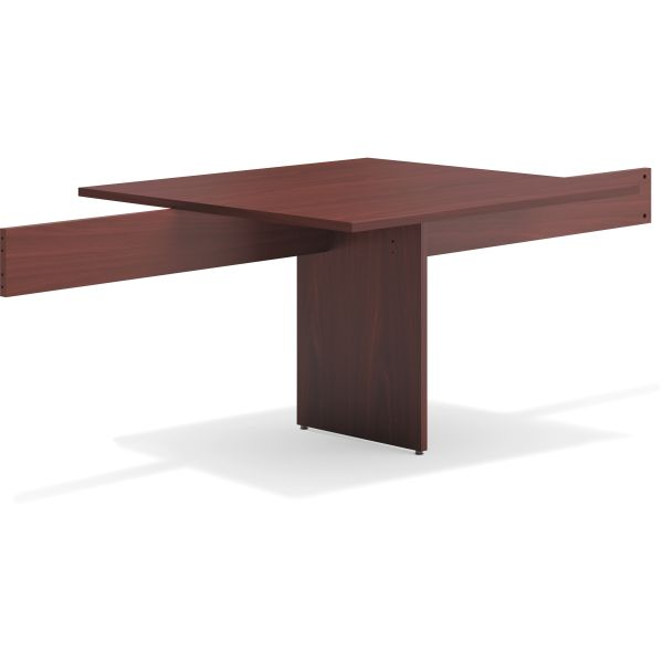 basyx BL Laminate Series Modular Conference Table Adder, 48 x 44 x 29 1/2, Mahogany