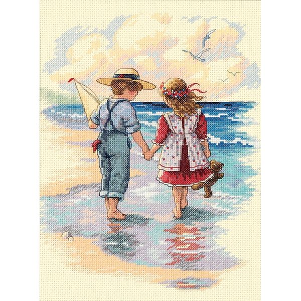 Dimensions Holding Hands Counted Cross Stitch Kit