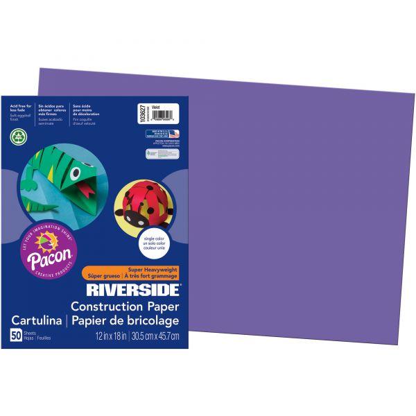 Riverside Groundwood Purple Construction Paper