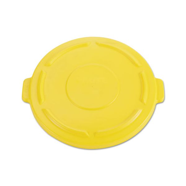 Rubbermaid Commercial Vented Round Brute 44 Gallon Flat Top Trash Can Lid