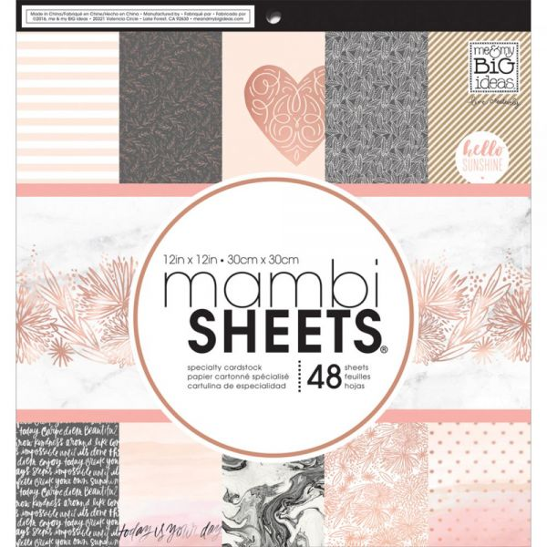 "Mambi Single-Sided Paper Pad 12""X12"" 48/Pkg"