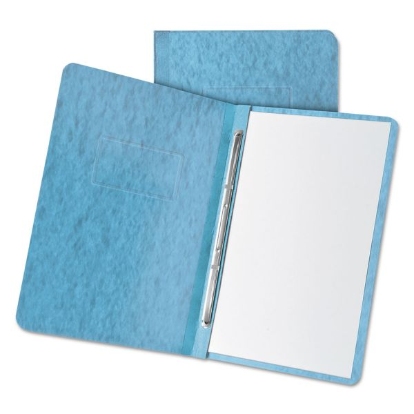 Oxford Light Blue Pressboard Report Cover
