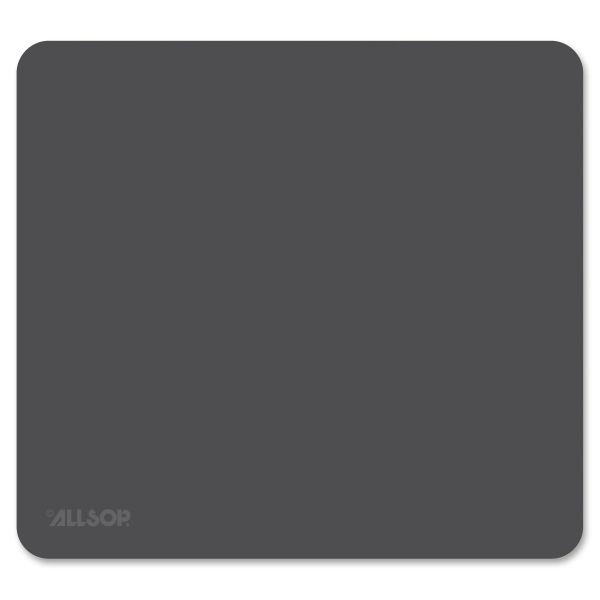 "Allsop Accutrack Slimline Mouse Pad, Silver, 8 3/4"" x 8"""
