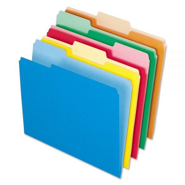 Pendaflex Interior File Folders, 1/3 Cut Top Tab, Letter, Bright Assortment, 100/Box