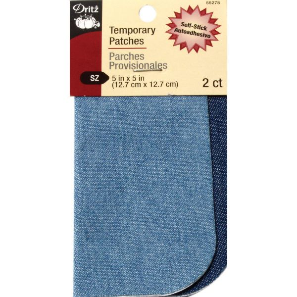"Denim Temporary Patches 5""X5"" 2/Pkg"
