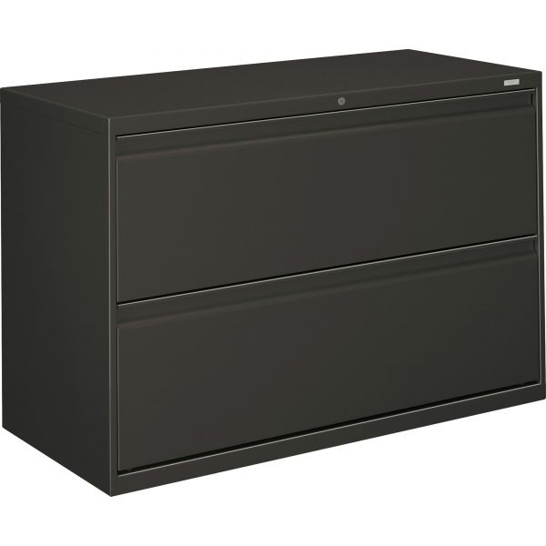 HON 800 Series Two-Drawer Lateral File, Letter/Legal/A4, 42w x 19-1/4d x 28-3/8h, Charcoal