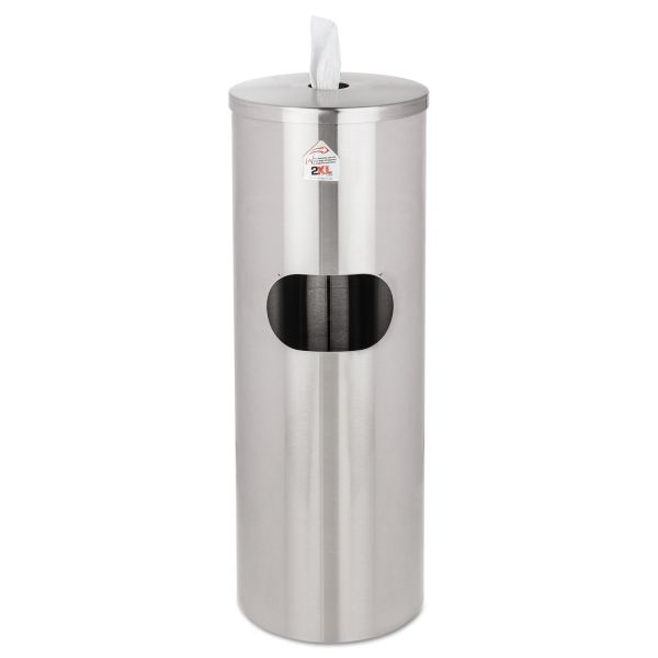 Stainless Steel 5 Gallon Trash Can with Wipe Dispenser