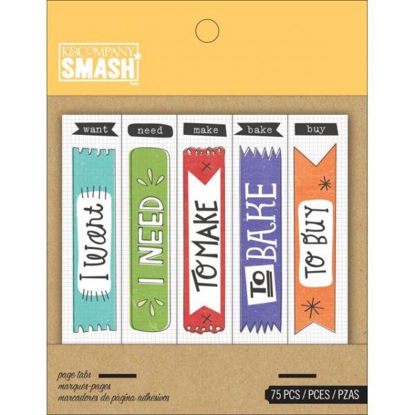 SMASH Page Tabs 75/Pkg