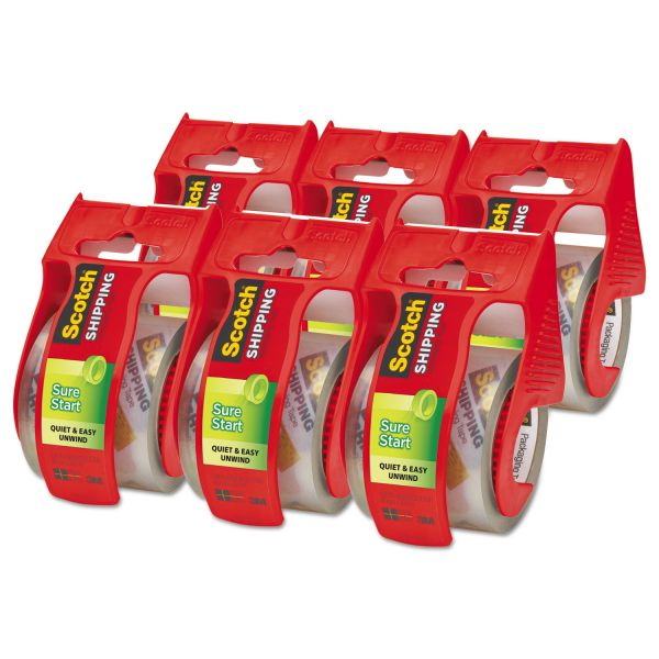 Scotch Sure Start Packing Tape with Dispensers