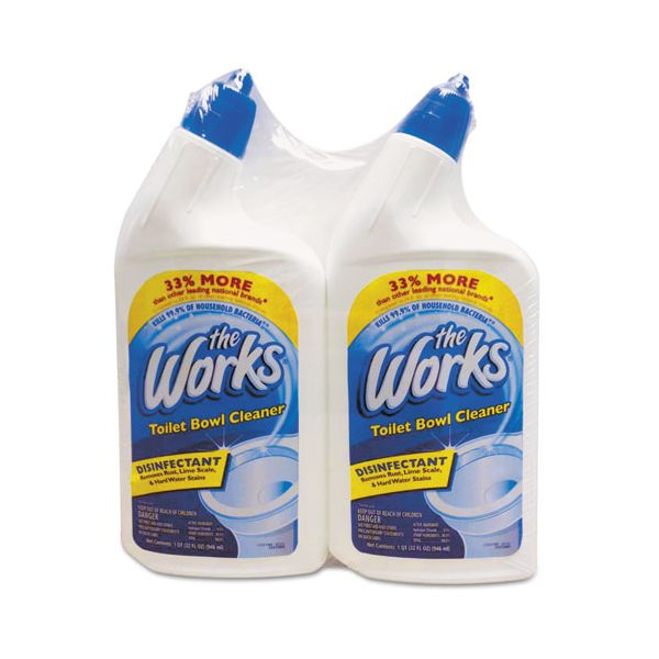 The Works Disinfectant Toilet Bowl Cleaner 32 Oz Spray