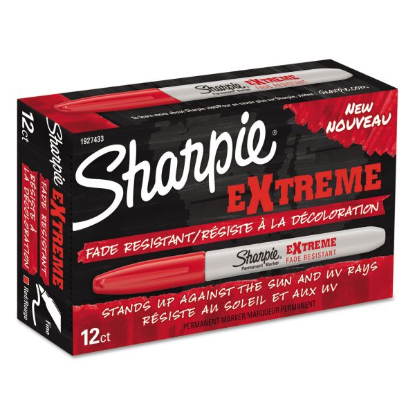 Sharpie Extreme Fine Point Red Permanent Markers