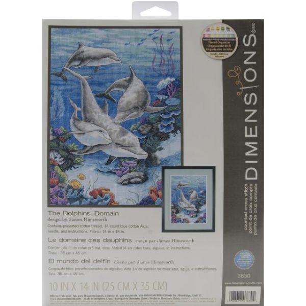 Dimensions The Dolphins' Domain Counted Cross Stitch Kit
