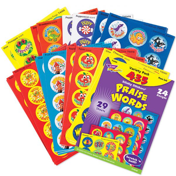 Trend Praise Words Stinky Stickers Variety Pack