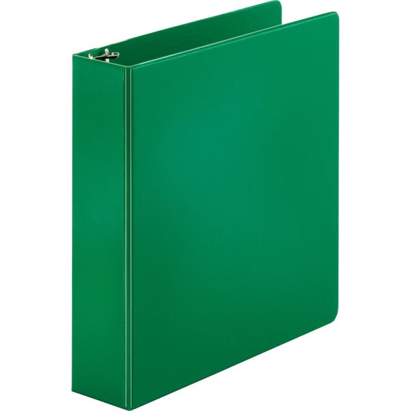 """Sparco 2"""" 3-Ring Binder, Letter Size, Round Ring, Green"""