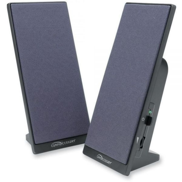 Compucessory 2.0 Speaker System - 3 W RMS - Black