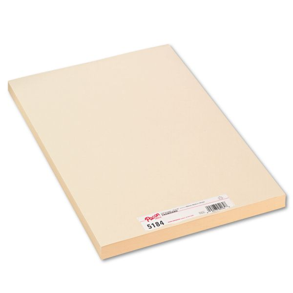 Pacon Medium Weight Tagboard, 18 x 12, Manila, 100/Pack