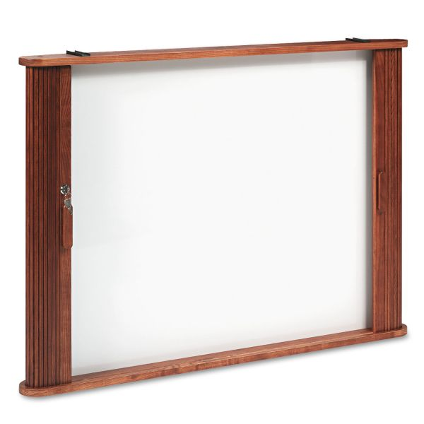 Balt Tambour Door Conference Cabinet Magnetic Dry Erase Board