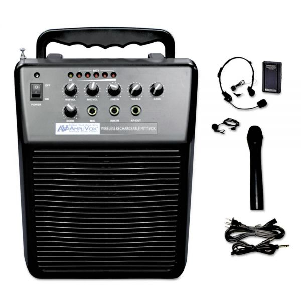 Amplivox MityVox Rechargeable Battery Powered PA System