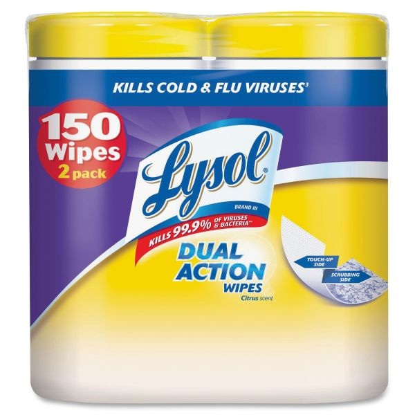LYSOL Brand Dual Action Disinfecting Wipes