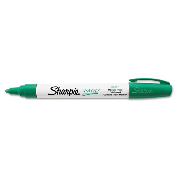 Sharpie Permanent Paint Marker, Medium Point, Green
