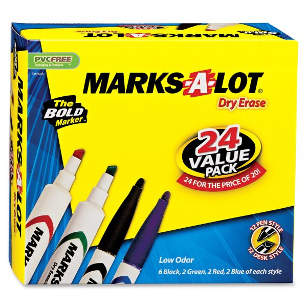 Marks-A-Lot Whiteboard Dry Erase Markers