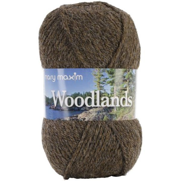 Mary Maxim Woodlands Yarn - Brown Heather