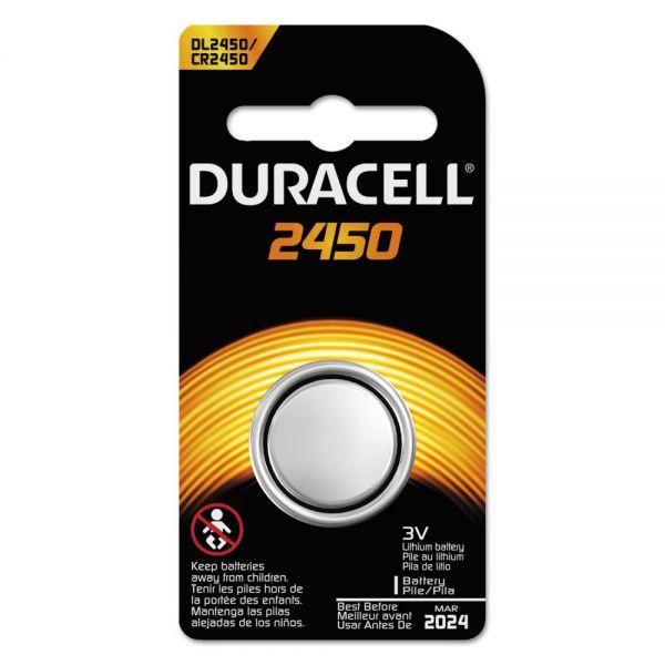 Duracell Button Cell Lithium Battery, #2450, 36/Carton