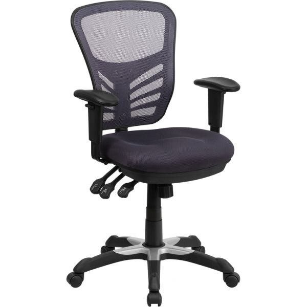 Flash Furniture Mid-Back Mesh Swivel Task Chair with Triple Paddle Control