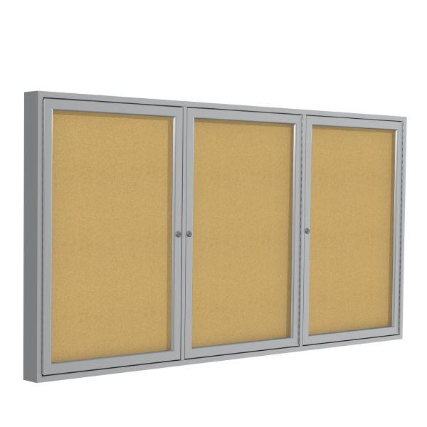 Ghent 3-Door Enclosed Cork Bulletin Board