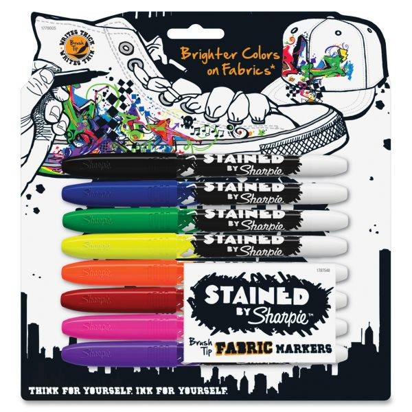 Sharpie Stained Brush Tip Fabric Markers - 8 pack