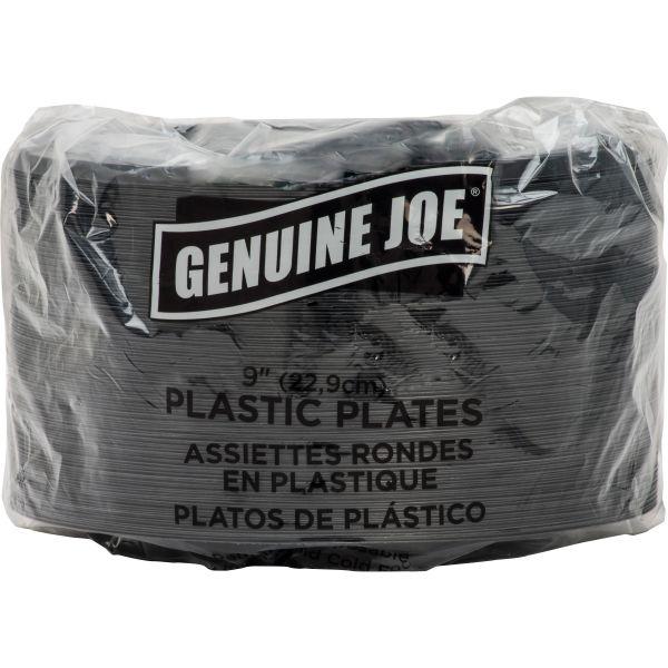 """Genuine Joe 9"""" Plastic Plates"""