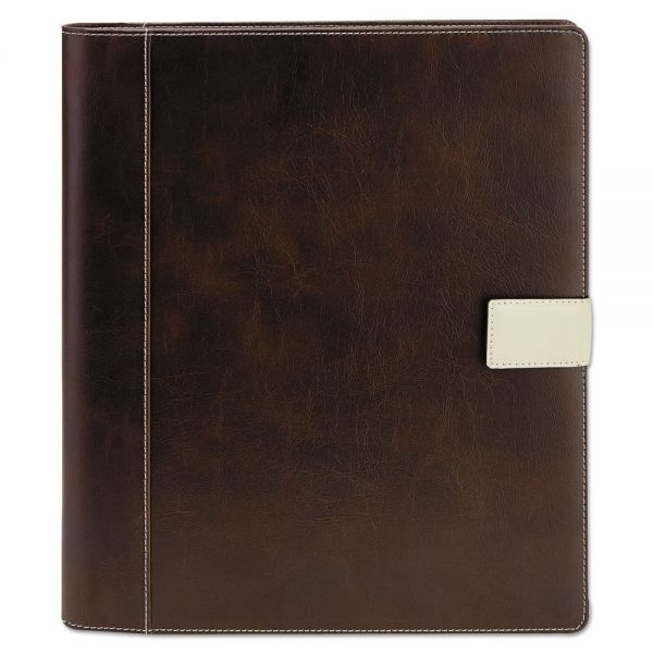 Universal Standard Pad Holder, 8 1/2 x 11, Vinyl, Brown