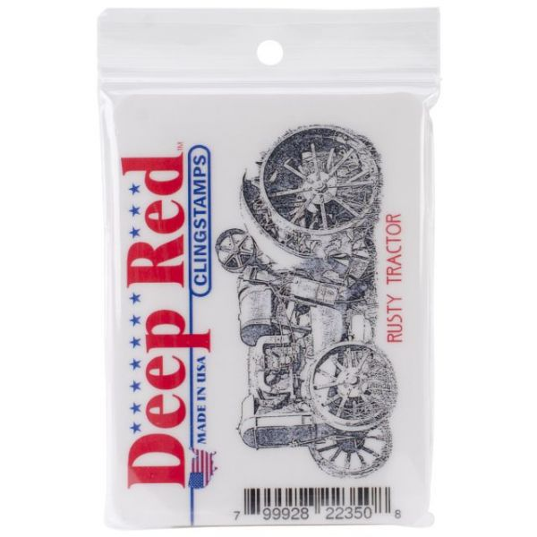 """Deep Red Cling Stamp 3.1""""X1.6"""""""
