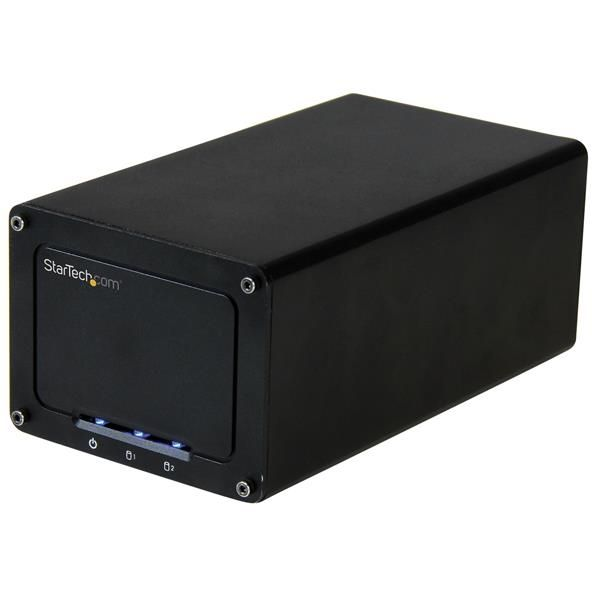"StarTech.com USB 3.1 (10Gbps) External Enclosure for Dual 2.5"" SATA Drives - with RAID & UASP"