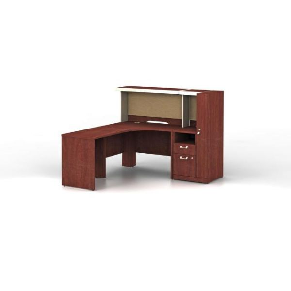 bbf Quantum Administrative Configuration - Harvest Cherry finish by Bush Furniture