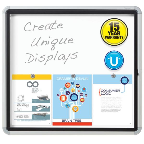 Quartet Enclosed Magnetic Dry Erase Board