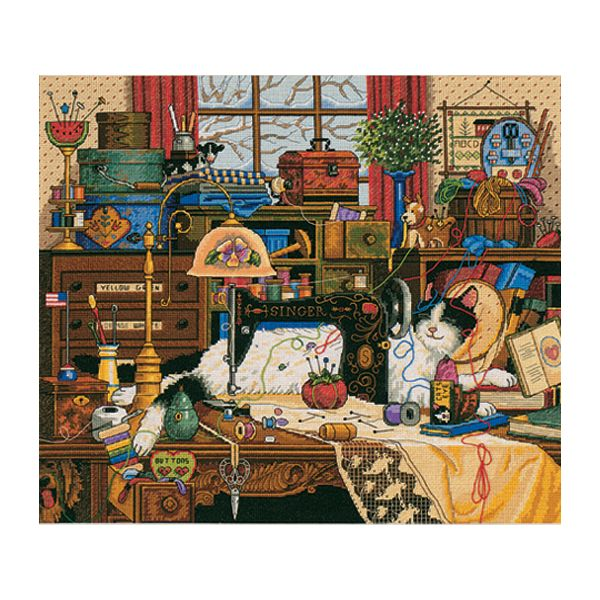 Dimensions Gold Collection Maggie The Messmaker Counted Cross Stitch Kit