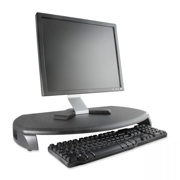Kantek CRT/LCD Stand with Keyboard Storage, 23w x 13 1/4d x 3h, Black