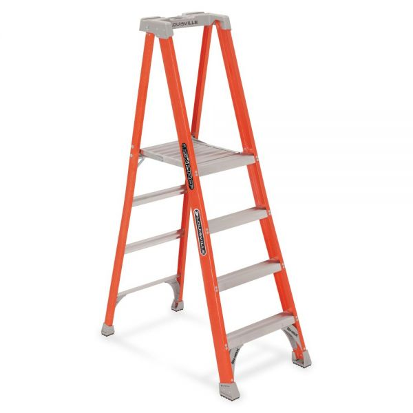 Louisville 4' Fibrglss Platform Step Ladder