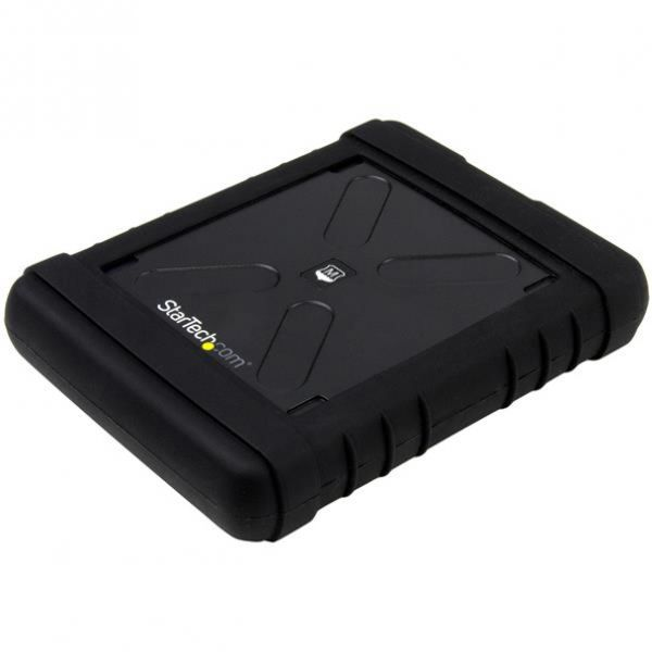 """StarTech.com 2.5"""" USB 3.0 Hard Drive Enclosure - Rugged - Supports UASP - Tool-Less - IP54 - SSD USB External HDD Enclsoure"""