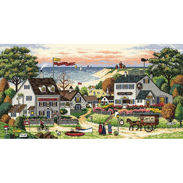 Dimensions Gold Collection Cozy Cove Counted Cross Stitch Kit