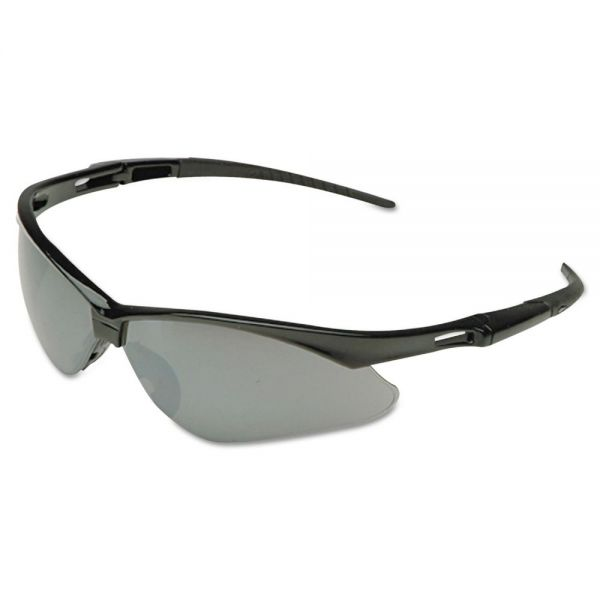 Jackson Safety* Nemesis Safety Glasses, Black Frame, Blue Shield Lens