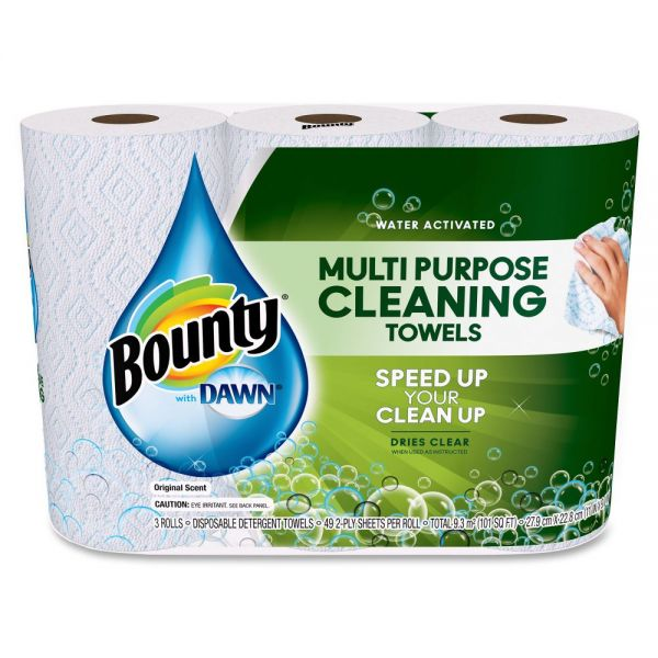 Bounty With Dawn Multipurpose Cleaning Paper Towels